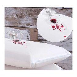 Fronha Avulsa Impermeável Bia para Travesseiro 70cm x 50cm 01 Peça Com Zíper - Branco