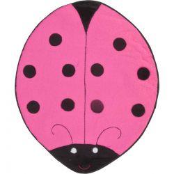 Tapete com formato de Joaninha Big Tecido de Pelúcia 1,30m x 1,20m - Pink