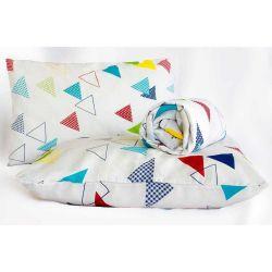 Jogo de Lençol Casal Queen Marina 03 Peças Tecido Misto - Triângulos