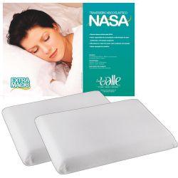 Kit c/ 02 Travesseiros NASA + Fronhas Microfibra - Cor Branco