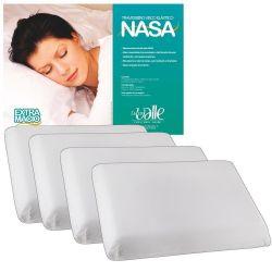 Kit c/ 04 Travesseiros NASA + Fronhas Microfibra - Cor Branco