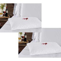 Kit de Capas Protetoras para Travesseiro Impermeável Repelente 02 Peças Percal de Poliéster 280 Fios - Anti Ácaro