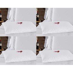 Kit de Capas Protetoras para Travesseiro Impermeável Repelente 04 Peças 100% Algodão 200 Fios - Anti Ácaro