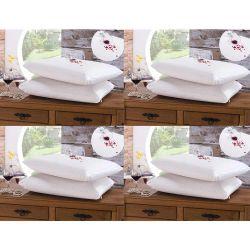 Kit de Fronhas Impermeáveis Bia para Travesseiro 70cm x 50cm 08 Peças Com Zíper - Branco
