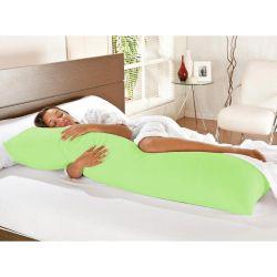 Kit Travesseiro de Corpo + Fronha Mega 02 Peças 100% Algodão - Verde Pistache