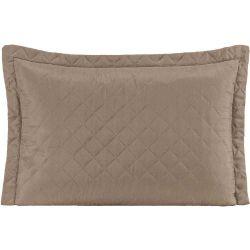 Porta Travesseiro MR Microfibra 01 Peça Matelado Ultrassônico - Caqui
