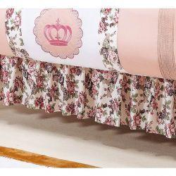 Saia Para Berço 03 Lados - Coleção Princesa Baby - 100% Algodão