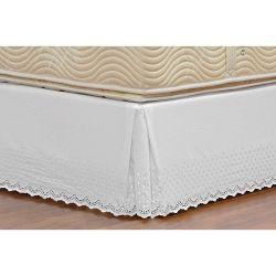Saia Box para Cama de Solteiro Padrão Probox de Laise Tecido Misto - Branco