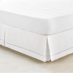 Saia Box para Cama Solteiro Supreme Tecido 100% Algodão 180 Fios - Branco