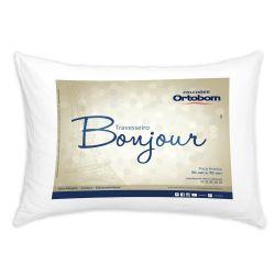 Travesseiro Bonjour Fibra Siliconizada em Microfibra 70cm x 50cm - Ortobom