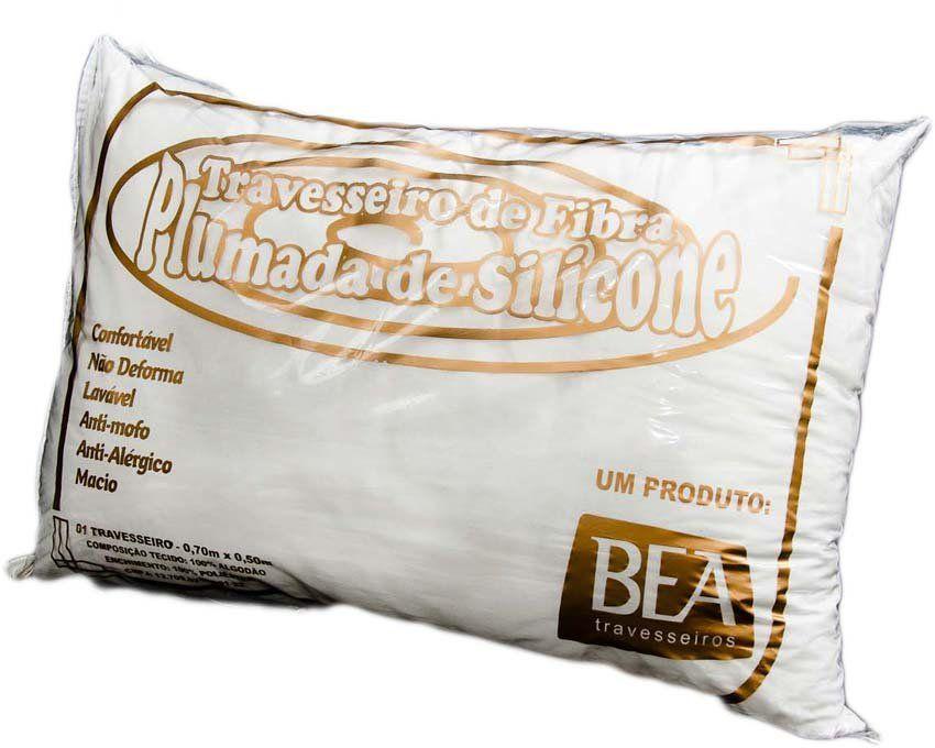 Travesseiro com Enchimento de Silicone Especial - Revestido com Tecido 100% Algodão