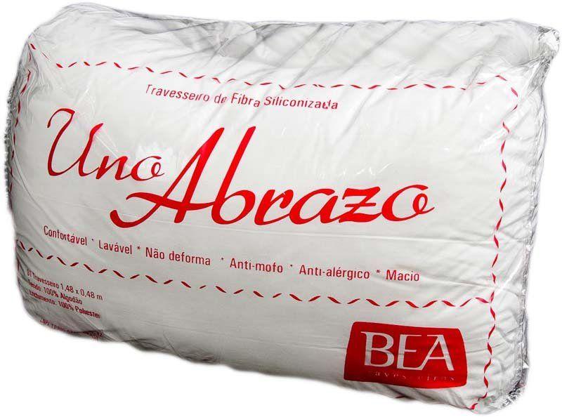 Travesseiro Abraço (para Corpo) com Enchimento de Silicone - Revestido c/ Tecido 100% Algodão