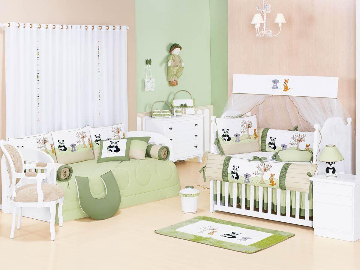 Lixeira Enfeitada - Coleção Panda Kids - Verde