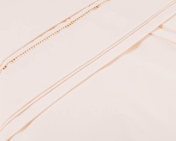 Lençol de Cama Avulso com Elástico Casal 03 Peças com 02 Fronhas - 100% Algodão Liso - Palha