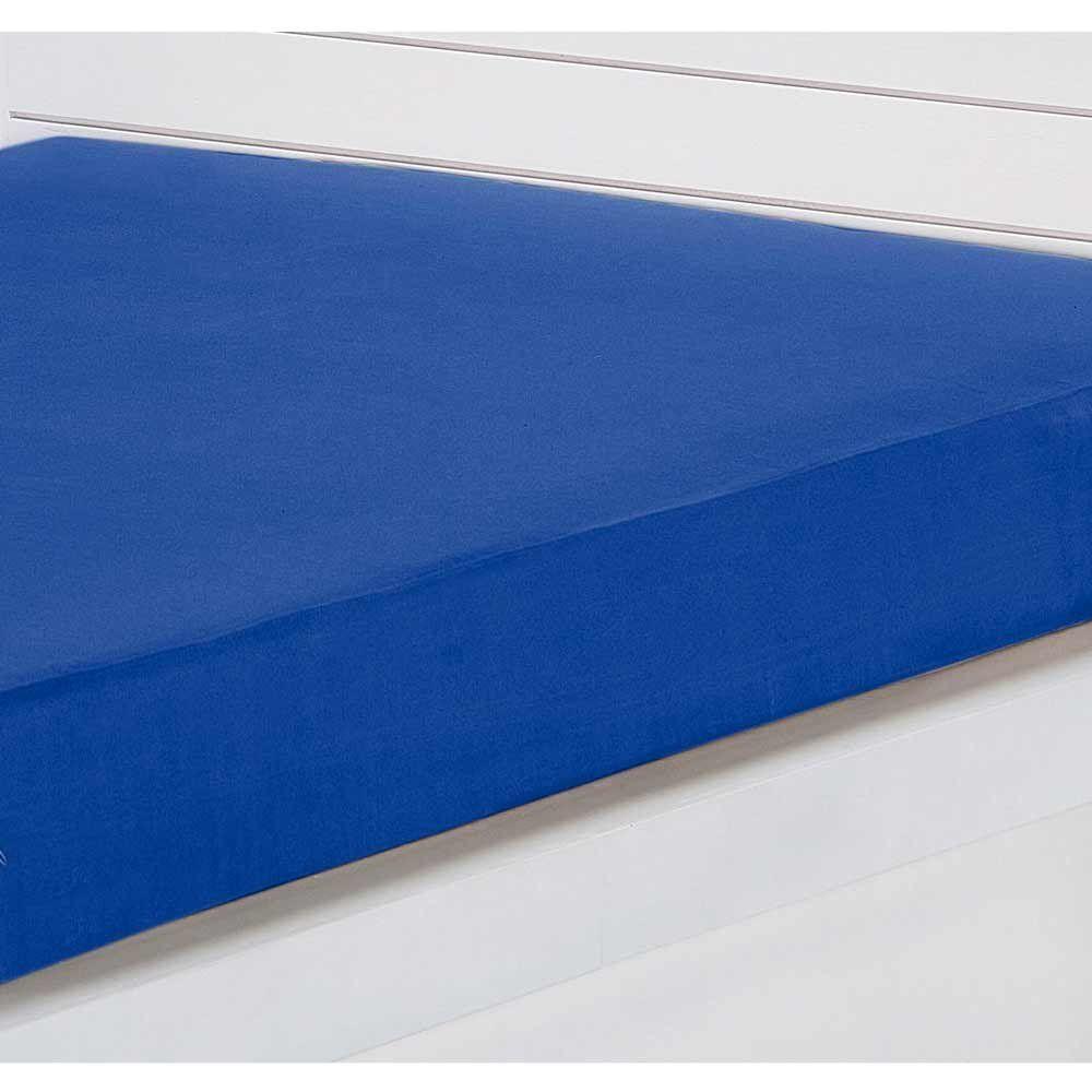 Capa para Colchão Solteiro Lipe 01 Peça 20cm Alt. Tecido Microfibra - Azul Royal
