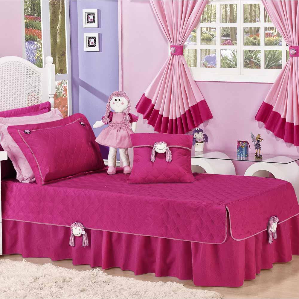 9552476c18 ... Cobre Leito Solteiro Infantil Chiquitita 04 Peças Tecido Micrifibra  Acompanha Boneco - Pink ...
