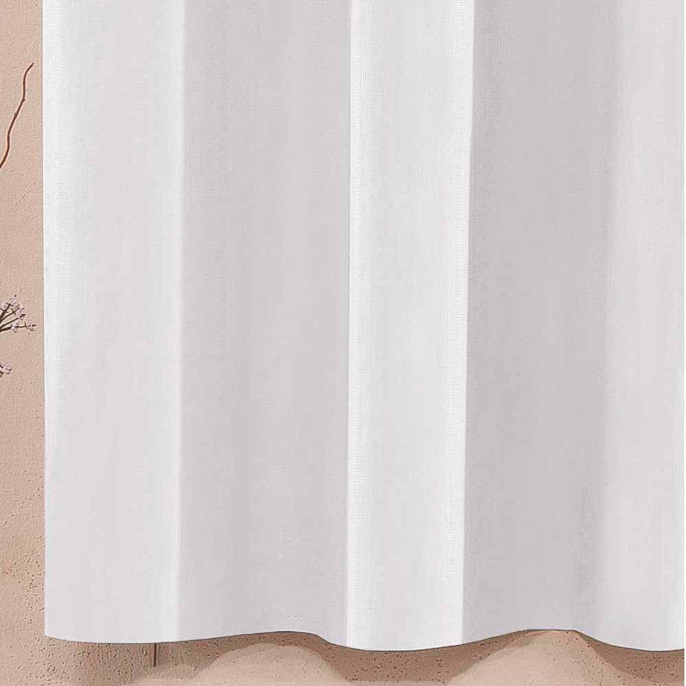 Cortina Corta Luz 2,80 x 1,60 Metros Blackout Tecido PVC Com Ilhós - Branco