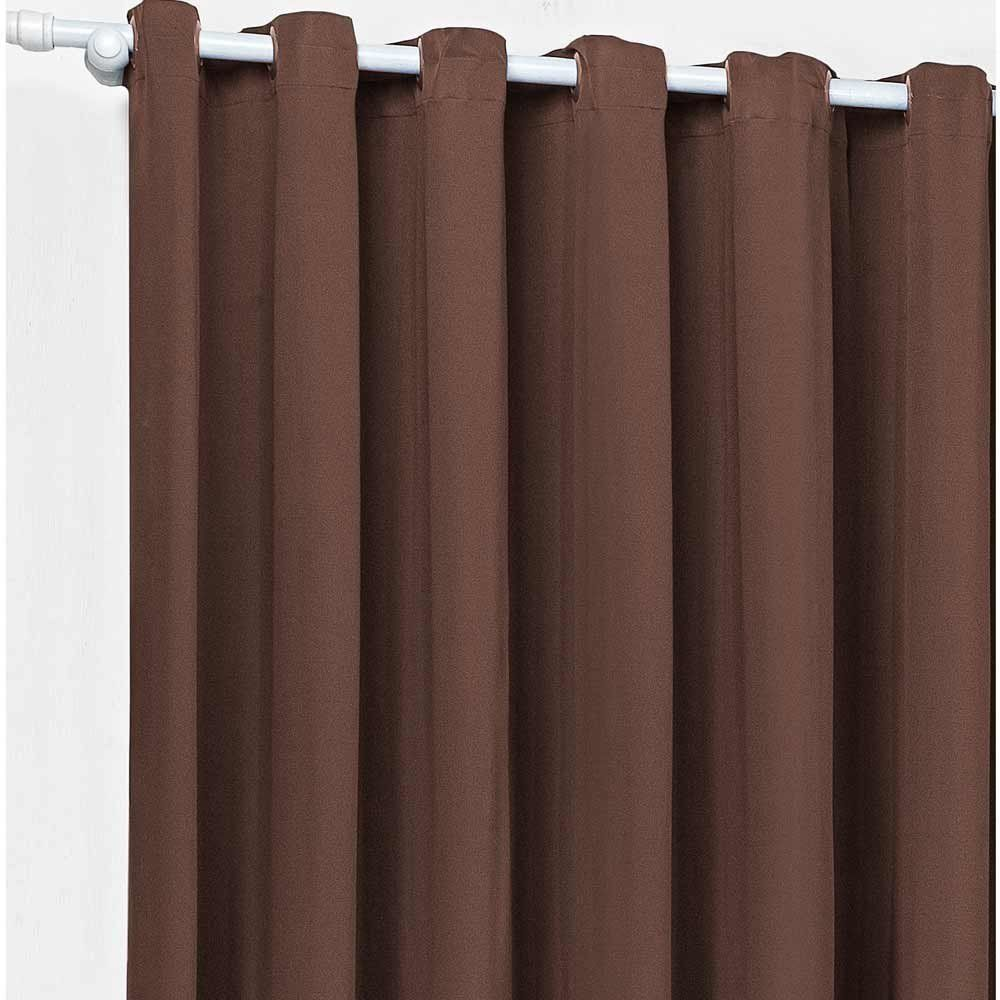 Cortina Fascínio 3mx 2,60m Alt. Tecido Malha Gel c/ Ilhós - Tabaco
