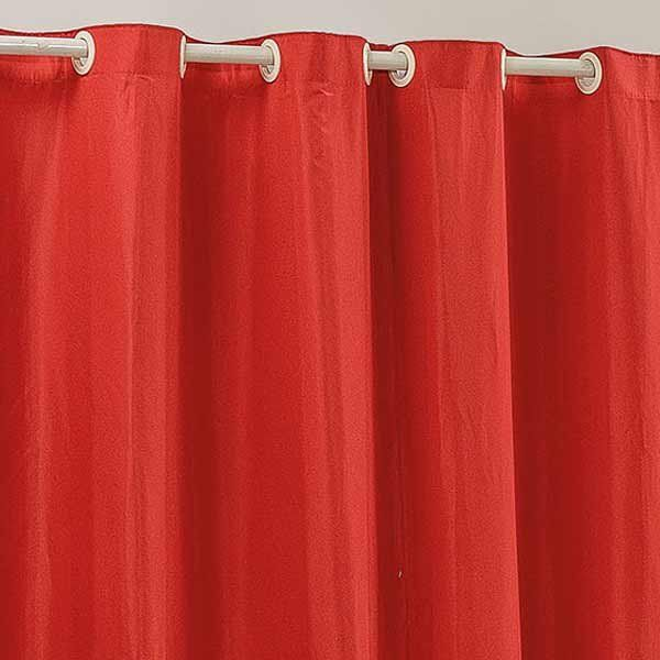 Cortina Floratta 3 Metros x 1,70 Metros Alt Tecido Rústico (P.A.) - Vermelho