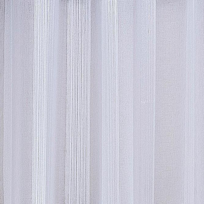 Cortina Linho Bordado Sala Quarto 4,00m x 2,75m  Ilhós Cromado - Branco