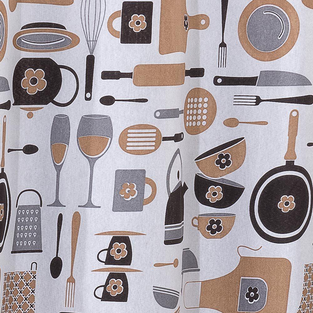 Cortina para Cozinha Cook 2,40m x 1,40m Gorgurinho Estampado - Xícara
