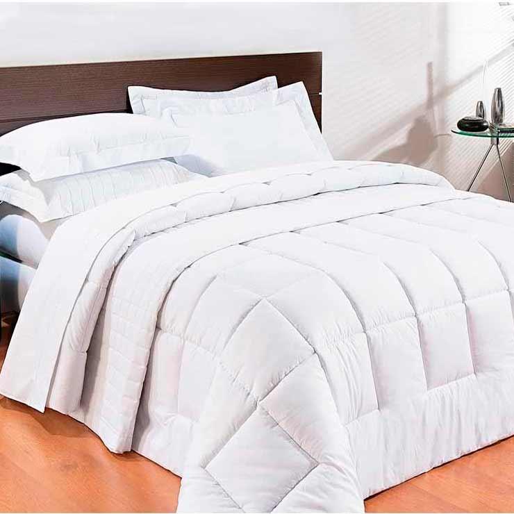 4071e651a4 Edredom Casal Queen Pratic 01 Peça 100% Algodão - Percal 200 Fios Dupla  Face Liso - Branco