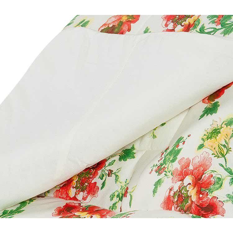 Edredom Solteiro Avulso Soft e Malha Fio 30/01 Estampado - Floral Palha