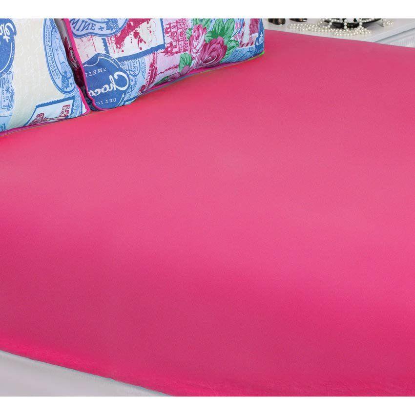 Jogo de Lençol Solteiro Essencial 02 Peças Tecido Malha Penteada 30/1 - Pink
