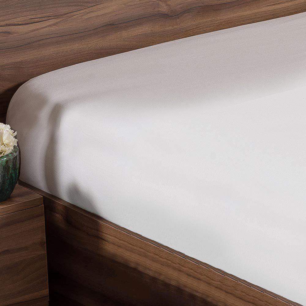 Lençol Solteiro Avulso Classic com Elástico 100% Algodão 150 Fios - Branco