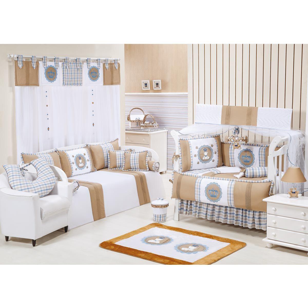 Pêndulo para Cortina de Bebê 02 Peças - Coleção Príncipe Baby