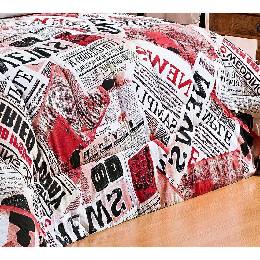 Edredom Casal Queen Safari 01 Peça Estampado DF Malha Penteada - Jornal Vermelho