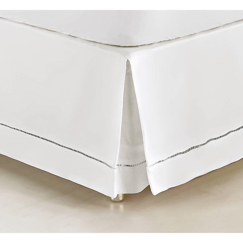 Saia Box para Cama Casal Padrão Supreme Tecido 100% Algodão 180 Fios - Branco