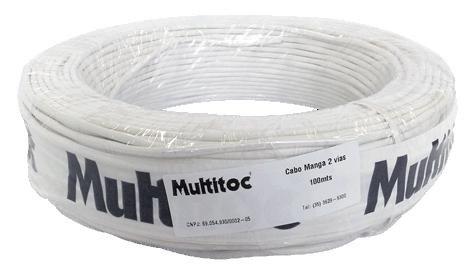 Cabo Manga 4 Vias Flex para CFTV 100 Metros - Multitoc