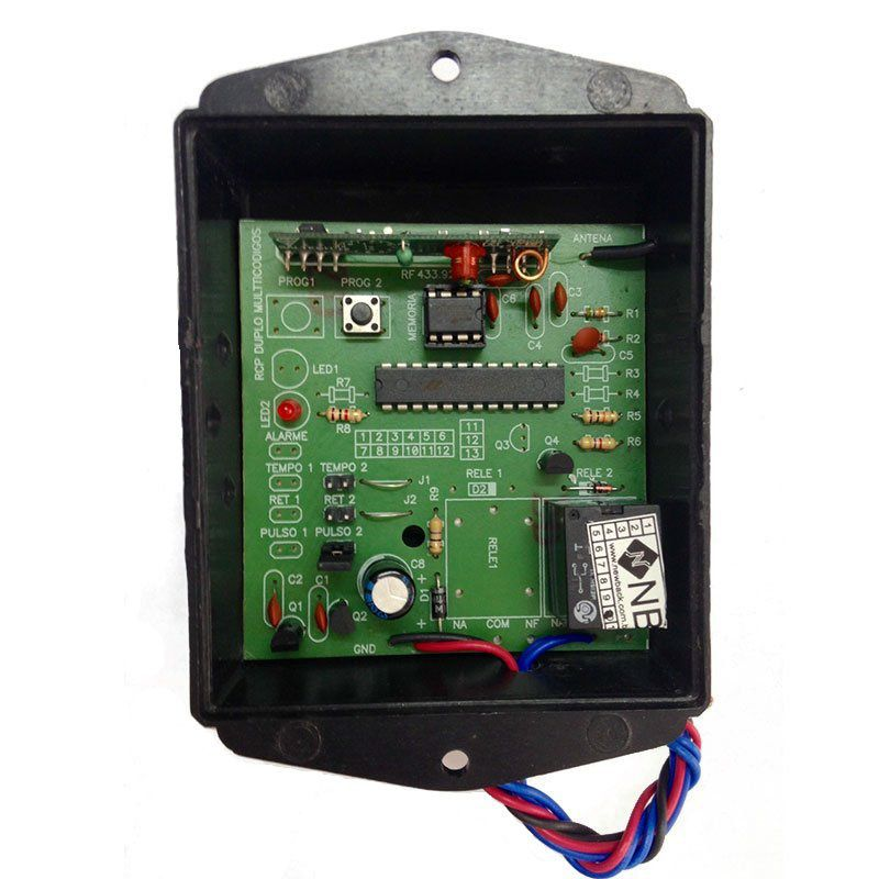 Receptor Multi-Códigos 1 Canal - Frequência  433 92Mhz - New Back