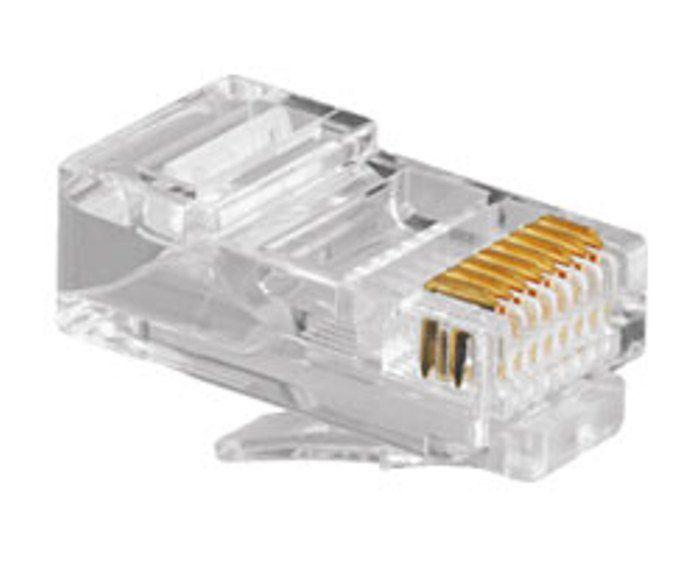 Plug Conector RJ45 Multitoc - Pacote com 20 Unidades