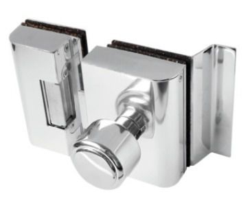 Fechadura  AGL Porta de Vidro c/ rasgo, 2 folhas e abertura interna - PVR2I