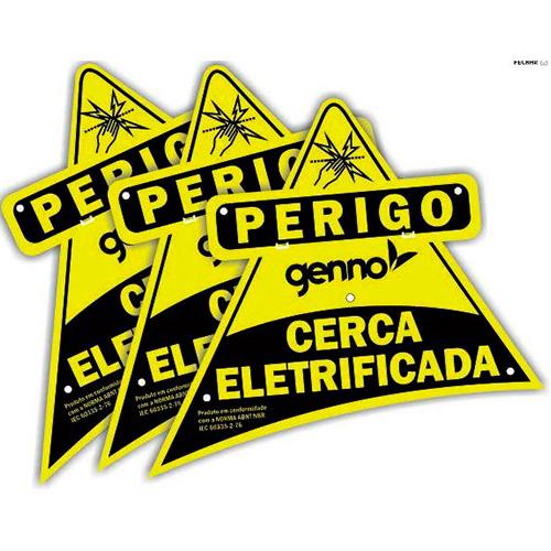 Placa de advertência  Cerca Elétrica -