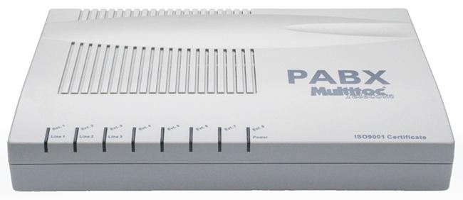 Central Telefônica PABX 4 Linhas 8 Ramais - Multitoc