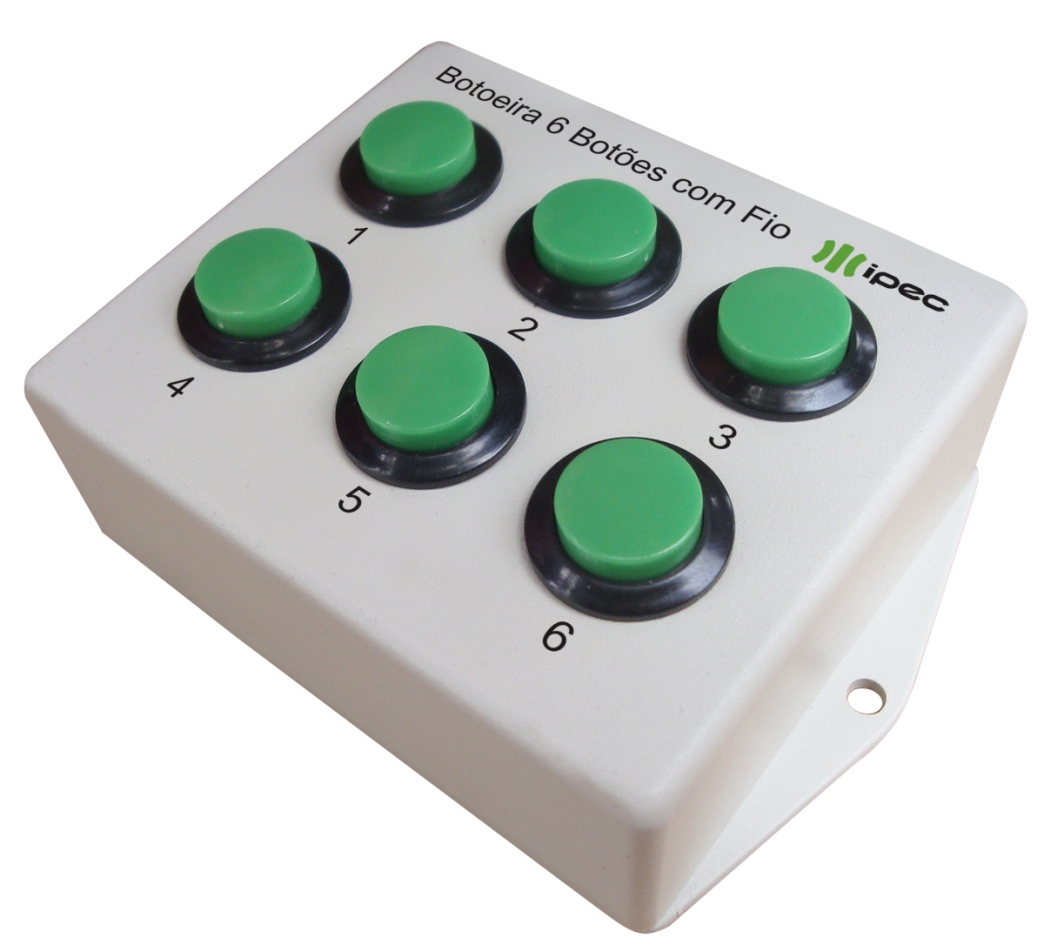 Botoeira Multifuncional 6 Botões com Fio Bot06 Ipec