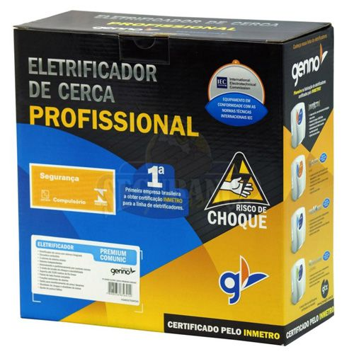 Eletrificador de Cerca Elétrica e Alarme Genno Impacto