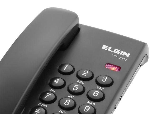 Telefone com Fio TCF 200 Elgin com Chave de Bloqueio