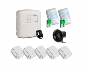 Kit Alarme Sem Fio 7 Sensores e Central c/ Discadora Alard Max1 - ECP