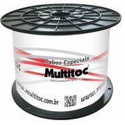 Cabo Coaxial para Antena HDTV RG06 - 80% Malha Bobina 300 Mts - Multitoc