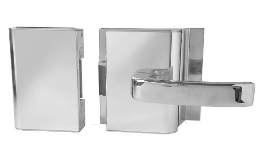 Fechadura AGL Porta de Vidro c/ Furo, 2 Folhas e Abertura externa PVF2E