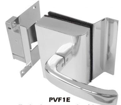 Fechadura AGL Porta de Vidro C/ Furos,1 Folha, Abertura Externa e Batente em Alvenaria - PVF1E