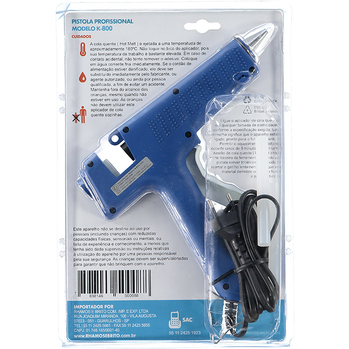 Pistola Para Cola Quente  Profissional Rhamos & Brito K800