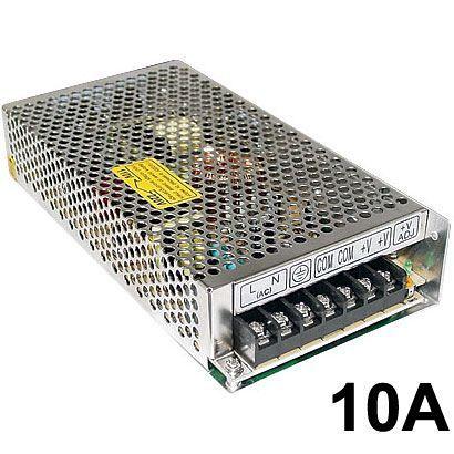 Fonte Chaveada Estabilizada Bivolt 12V 10A - para Cftv Led Som Etc