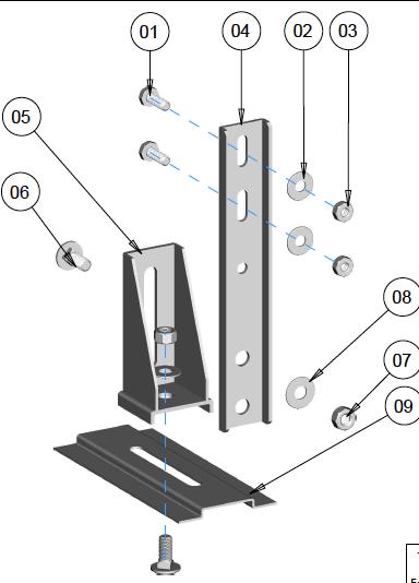 Suporte para Automatizadores Basculante Galvanizado