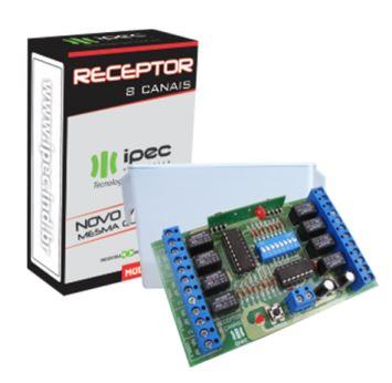 Receptor de 8 Canais com Pulso e Retenção Beep -  Ipec