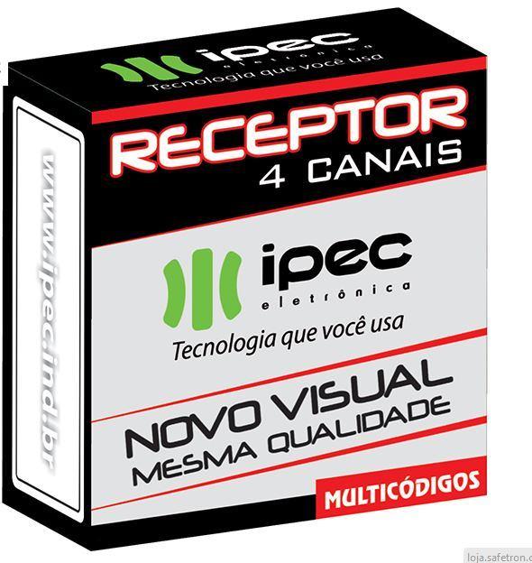 Receptor de  4 Canais  Pulso e  Retensão  Beep  433mhz. Ipec